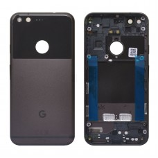 "Google Pixel 5.0"" Back door cover Replacement Back battery door panel housing Original color with Camera lens and Adhesive sticker for Pixel 1"