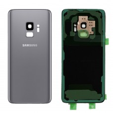 Samsung Galaxy S9 Back Glass Replacement Back battery door panel housing Original color and Shape with Camera lens Adhesive sticker for S9 G960W SM-G960W