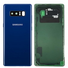 Samsung Galaxy Note 8 Back Glass Replacement Back battery door panel housing Original color with pre installed Camera lens & Adhesive sticker for Note8 N950W SM-N950W