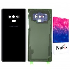 Samsung Galaxy Note 9 Back Glass Replacement Back battery door panel housing Original color with pre installed Camera lens & Adhesive sticker for Note 9 N960W SM-N960W