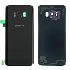 Samsung Galaxy S8 Back Glass Replacement Back battery door panel housing Original color with Pre installed Camera lens & Adhesive sticker for S8 G950W SM-G950W