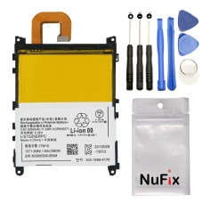 NuFix Battery Replacement for Sony Xperia Z1 LIS1532ERPC 3000mAh battery replacement L39H C6902 C6903