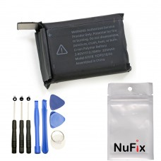 NuFix Battery Replacement A1848 for Apple Watch series 3 38mm A1890 A1860 A1889 Cellular 279mAh with Tools