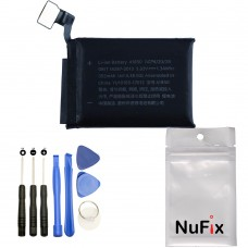 NuFix Battery Replacement A1850 for Apple Watch series 3 42mm A1892 A1861 A1891 A1892 Cellular 352mAh with Tools