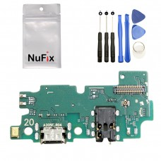 NuFix Replacement for Samsung Galaxy A20 Charging Port Flex Connector board module PCB Part dock connector usb cable for Samsung Galaxy A20 A205 A205W A205U A205DS A205F A205G