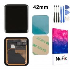 NuFix LCD Replacement for Apple Watch Series 2 38mm display screen lcd assembly with Tools and Adhesive A1757 A1816