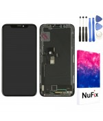 NuFix LCD Replacement for Apple iPhone X Screen Glass LCD Display Touch Digitizer assembly with Frame and Tools A1865 A1901 A1902 Black