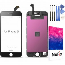 NuFix LCD Replacement for Apple iPhone 6 / 6G Screen Glass LCD Display Touch Digitizer assembly with Frame and Tools