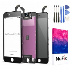 NuFix LCD Replacement for Apple iPhone 6 Plus Screen Glass LCD Display Touch Digitizer assembly with Frame and Tools