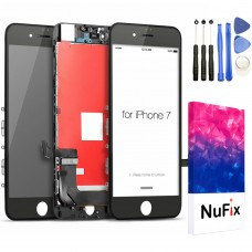 NuFix LCD Replacement for Apple iPhone 7 / 7G Screen Glass LCD Display Touch Digitizer assembly with Frame and Tools