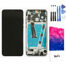 NuFix LCD Replacement for Huawei P30 Lite Screen Glass LCD Display Touch Digitizer assembly with Frame and Tools LX3A LX2J LX2 LX1M L21A L01A LX1A Black