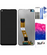 NuFix LCD Replacement for Samsung Galaxy A11 SM-A115W SM-A115U Screen Glass Display Touch Digitizer assembly with Adhesive and Tools A115W A115U A115A Black