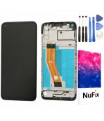 NuFix LCD Replacement for Samsung Galaxy A11 SM-A115W SM-A115U Screen Glass Display Touch Digitizer assembly with frame and Tools A115W A115U A115A Black