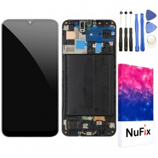 NuFix LCD screen Replacement for Samsung Galaxy A50 Glass LCD Display Touch Digitizer assembly with Frame and Tools A50 A505 A505W A505U A505DS A505F A505G Black