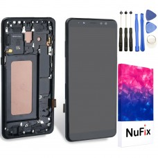 NuFix LCD Replacement for Samsung Galaxy A8 2018 SM-A530W SM-A530 SM-A530F Screen Glass LCD Display Touch Digitizer assembly with Frame and Tools A530W A530