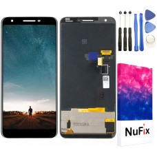 "NuFix LCD Replacement for Google Pixel 3A XL 6.0"" Screen Glass LCD Display Touch Digitizer assembly with Tools and Adhesive G020C G020A G020B G020D"