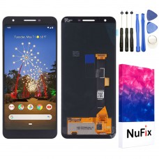 "NuFix LCD Replacement for Google Pixel 3A 5.6"" Screen Glass LCD Display Touch Digitizer assembly with Tools and Adhesive G020G G020E G020F G020H"