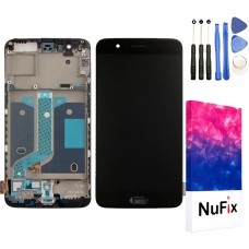 NuFix LCD Replacement for OnePlus 5 with Frame Screen Glass LCD Display Touch Digitizer assembly with Tools A5000 Black
