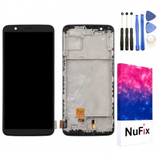 NuFix LCD Replacement for OnePlus 5T with Frame Screen Glass LCD Display Touch Digitizer assembly with Tools A5010 Black