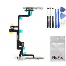 iPhone 7 Plus Power Volume Button Mute Flex cable on off with brackets for iPhone 7 Plus A1661 A1784 A1785 A1786